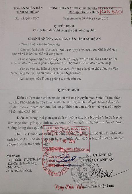 Nghe An: Nguyen Pho chanh an Nghia Dan gui don khieu nai 1 nam chua giai quyet - Anh 1