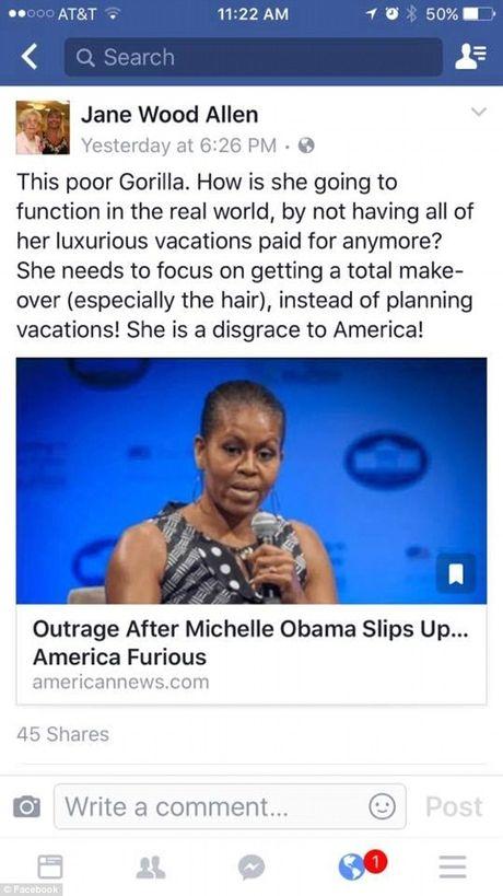 Giao vien bi sa thai vi noi phu nhan tong thong Obama la 'khi dot' - Anh 2