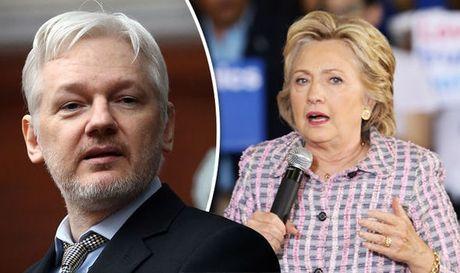 WikiLeaks sap cong bo thong tin soc, co the gay hai cho chien dich tranh cu cua ba Clinton - Anh 1