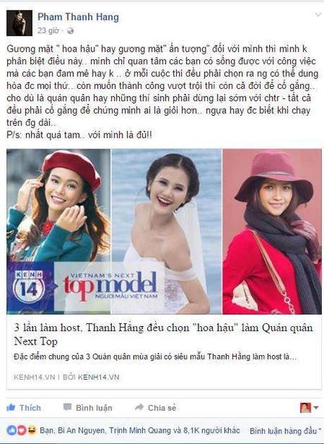 Thanh Hang len tieng benh vuc Ngoc Chau truoc 'bao' du luan - Anh 1