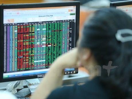 Chung khoan tiep da tang, chi so VN-Index co them gan 3 diem - Anh 1