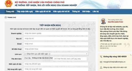 Tu 5/10, website nhan phan anh cua doanh nghiep di vao hoat dong - Anh 1