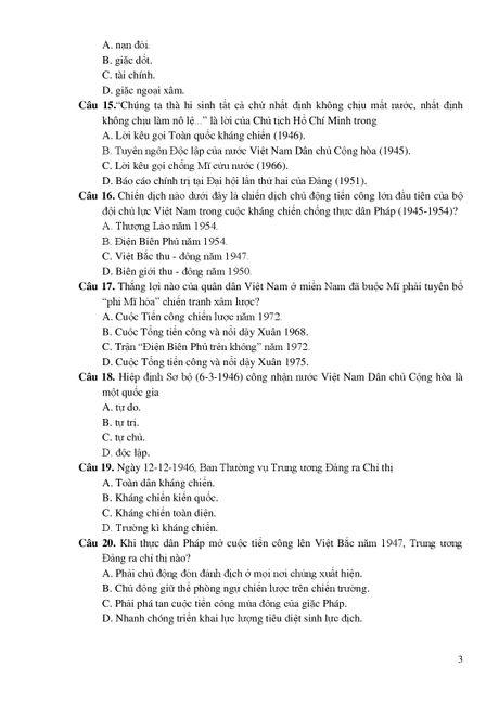 De thi THPT quoc gia minh hoa 4 mon: Sinh, Su, Dia, GDCD - Anh 8