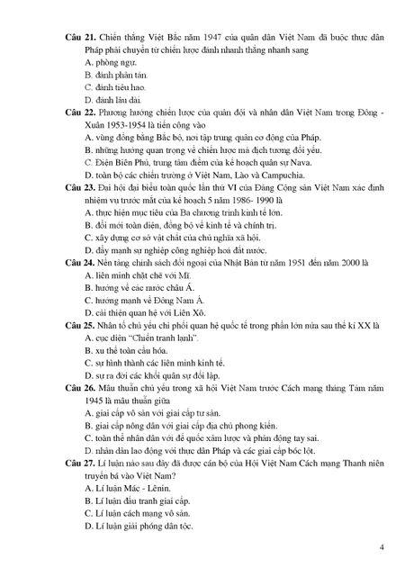 De thi THPT quoc gia minh hoa 4 mon: Sinh, Su, Dia, GDCD - Anh 9