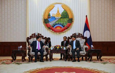 Pho Thu tuong Trinh Dinh Dung hoi dam va gap go lanh dao Dang, Chinh phu Lao - Anh 2