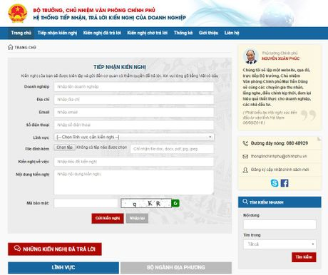 Cong bo website 'Chinh phu voi Doanh nghiep' - Anh 1