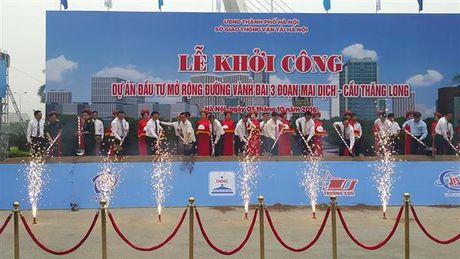 Khoi cong Du an mo rong doan duong Mai Dich – cau Thang Long - Anh 1