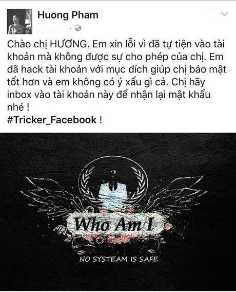 Ke hack thanh cong Facebook HH Pham Huong de lai loi nhan gi? - Anh 2