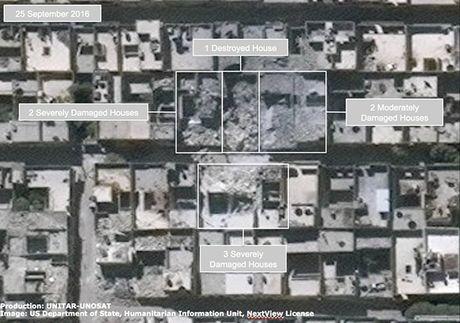 Anh ve tinh Aleppo tan hoang trong mua bom bao dan - Anh 3