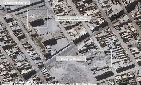 Anh ve tinh Aleppo tan hoang trong mua bom bao dan - Anh 5