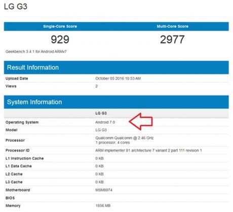Lo dau hieu LG G3 duoc nang cap len Android 7.0 - Anh 2