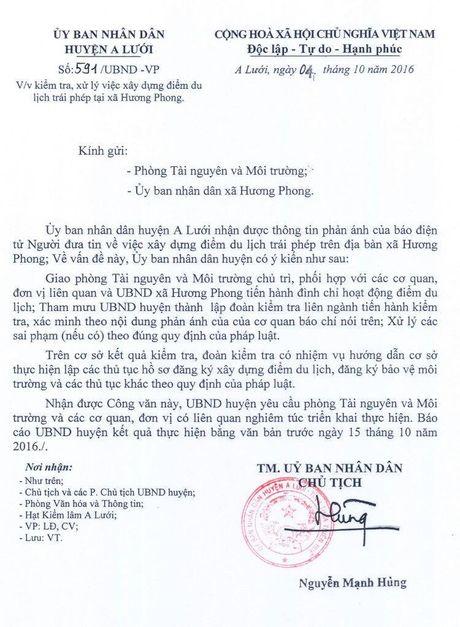 """Lap doan kiem tra, xu ly vu du an khu du lich """"chui"""" cua Pho cong an huyen - Anh 1"""