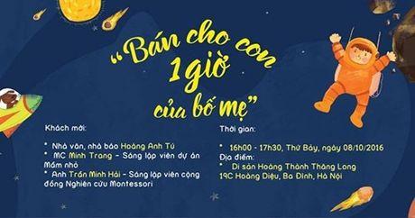 """Lang nghe MC Minh Trang noi ve viec """"Ban cho con mot gio cua bo me"""" - Anh 3"""