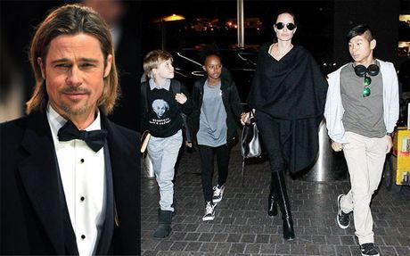 Brad Pitt nhun nhuong trong cuoc chien gianh quyen nuoi con - Anh 1