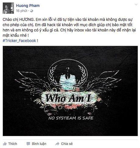Pham Huong bi fan hack Facebook, chuyen qua Instagram - Anh 2