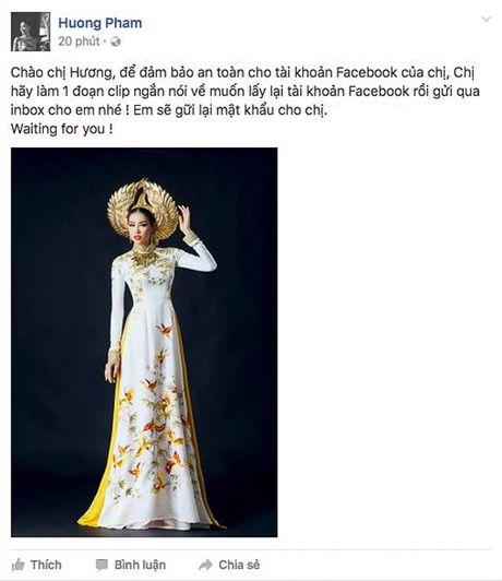 Pham Huong bi fan hack Facebook, chuyen qua Instagram - Anh 3