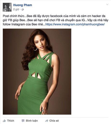 Pham Huong bi fan hack Facebook, chuyen qua Instagram - Anh 4