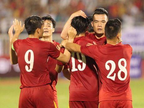 Viet Nam 5-2 Trieu Tien: Con mua ban thang tren san Thong Nhat - Anh 1