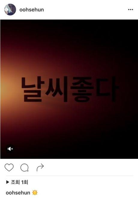 Sehun (EXO) gay tranh cai khi khen thoi tiet dep ngay trong thoi diem bao lu can quet Busan - Anh 2