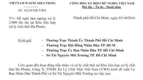 Do 'ap luc du luan', Da Phuoc tra 2.000 tan rac cho TPHCM - Anh 1