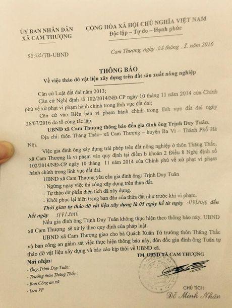 Ba Vi (Ha Noi): Cong trinh hang tram m2 xay dung tren dat nong nghiep, UBND xa Cam Thuong xu ly tren giay - Anh 5