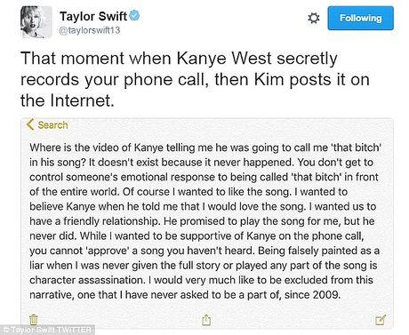 Cau lang ma ma Kanye West danh cho Taylor Swift ban dau con 'tham' hon ban chinh thuc - Anh 2
