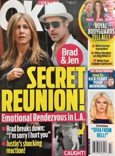 Brad Pitt len gap Jennifer Aniston tam tinh sau khi ly hon Angelina Jolie? - Anh 1