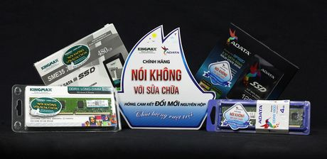 Nguoi dung su dung RAM, SSD mang thuong hieu ADATA va KINGMAX se duoc bao hanh doi moi - Anh 1
