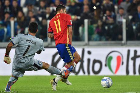 Italy 1-1 Tay Ban Nha: Buffon mac loi, De Rossi giai cuu doan quan Thien thanh - Anh 1