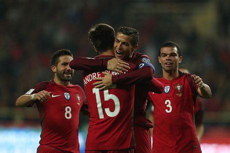 Clip: Ronaldo lap poker giup Bo Dao Nha thang '6 sao' - Anh 1