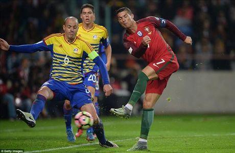 Cristiano Ronaldo ghi 4 ban, Bo Dao Nha nghien nat Andorra - Anh 2