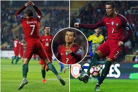 Ronaldo lap 'cu poker', Bo danh 'tennis' truoc Andorra - Anh 1