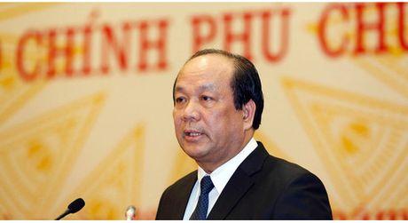 Bo truong Mai Tien Dung: Qua he thong nay khong quan chuc nao co the noi doi - Anh 1