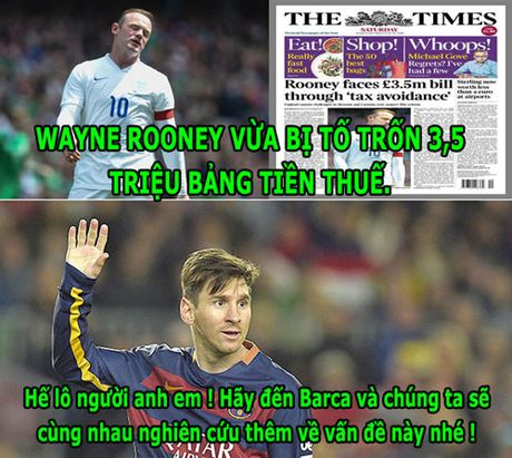 HAU TRUONG (9.10): Messi 'du do' Rooney sang Barca, Neuer 'choi ngu' - Anh 4