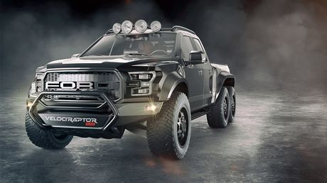 """Chiem nguong """"khung long"""" Hennessey VelociRaptor 6x6 - Anh 2"""