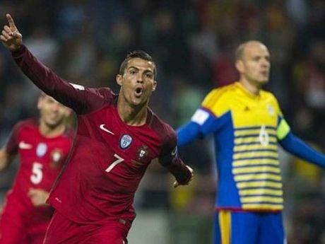 Ronaldo tro lai ghi 4 ban cho Bo Dao Nha - Anh 1