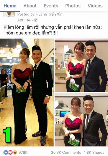 Tran Thanh khoe anh tinh tu voi Hari Won gay bao - Anh 2
