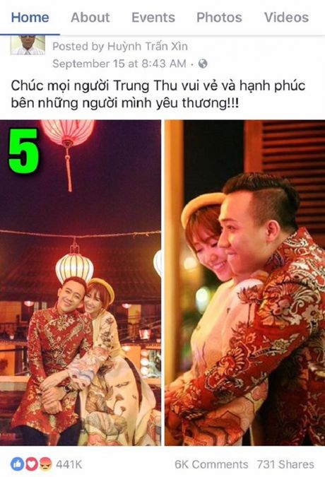 Tran Thanh khoe anh tinh tu voi Hari Won gay bao - Anh 5