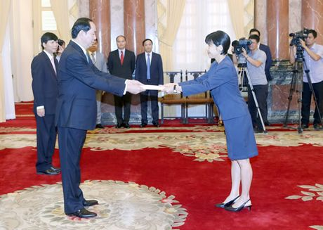 Chu tich nuoc Tran Dai Quang tiep cac Dai su trinh Quoc thu - Anh 1