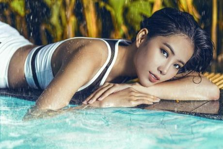 Nam Em dien bikini khoe body nong bong truoc them Hoa hau Trai Dat 2016 - Anh 5