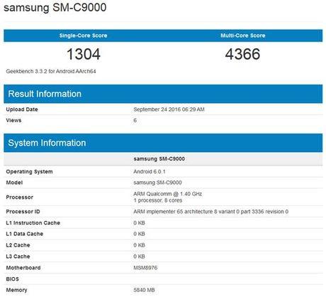 Smartphone Samsung Galaxy C9 lo cau hinh an tuong - Anh 3