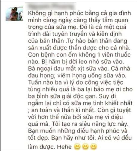 Toi nuoi con hoan toan bang sua me nhung khong 'cuong' sua me toi muc dien cuong - Anh 2