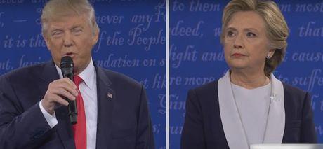 Bay khoanh khac 'kinh dien' trong cuoc doi dau lan 2 giua Trump-Clinton - Anh 2