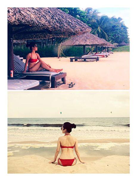 Het mot khong noi y, Huong Tram lai khoe dang nuot voi bikini - Anh 5