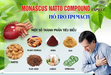Vien nang Monascus Natto Compound – ngan ngua nguy co dot quy va nhoi mau co tim - Anh 2