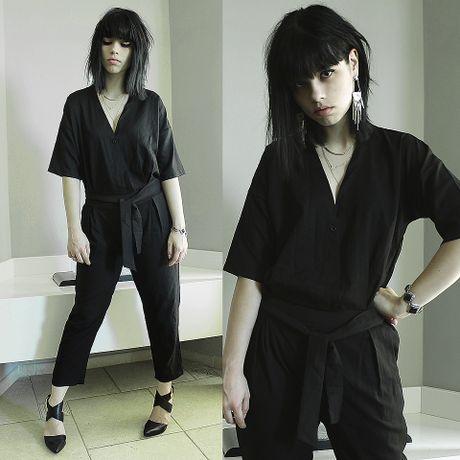 Thu dien jumpsuit phong cach xuong pho nhu fashionista chuyen nghiep - Anh 5