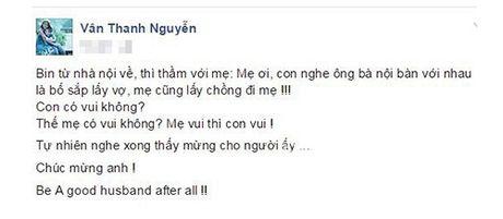 """Thanh Van Hugo: """"Sau tat ca, anh hay la nguoi chong tot"""" - Anh 2"""