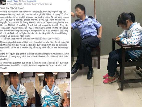 Tong lanh su quan VN tim gap be gai 12 tuoi co thai o Trung Quoc - Anh 1