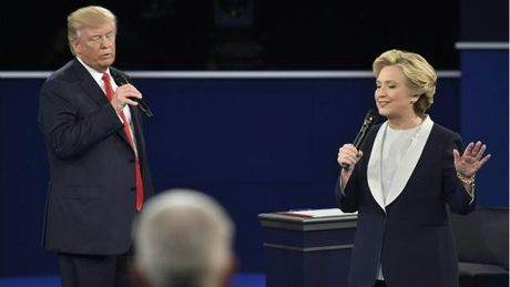 Ket qua tham do sau tranh luan lan 2 cua Trump - Hillary - Anh 1