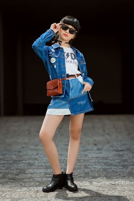 Kim Anh The Voice Kids khoe street style xinh xan tren pho - Anh 14